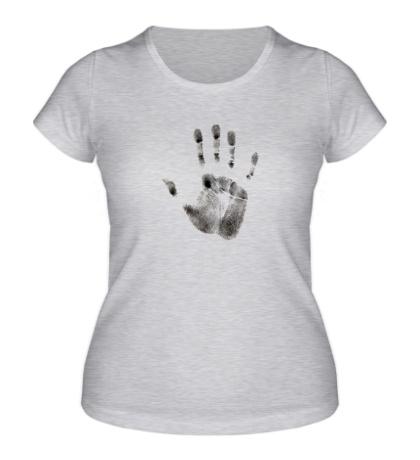 Женская футболка Отпечаток руки