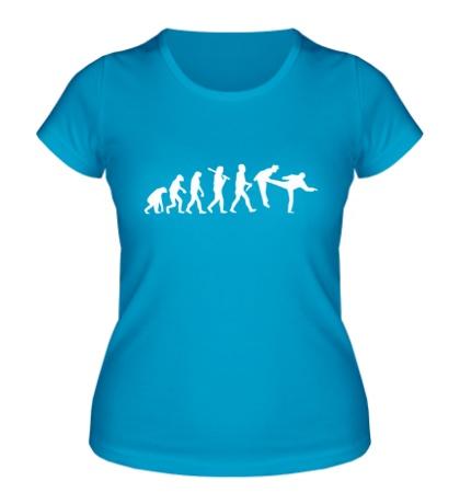 Женская футболка Удар по эволюции