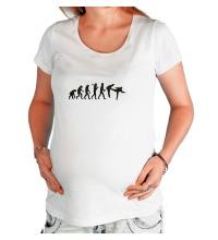 Футболка для беременной Удар по эволюции