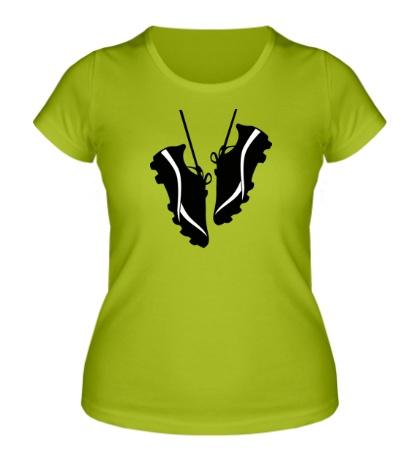 Женская футболка Футбольные бутсы