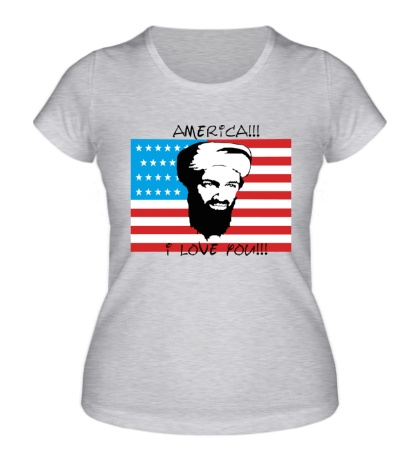 Женская футболка America! I love you!