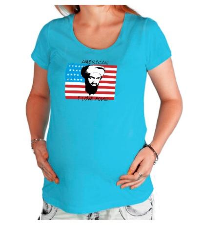 Футболка для беременной America! I love you!