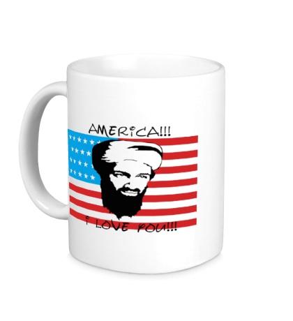 Керамическая кружка America! I love you!
