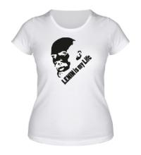 Женская футболка Lenin is my life