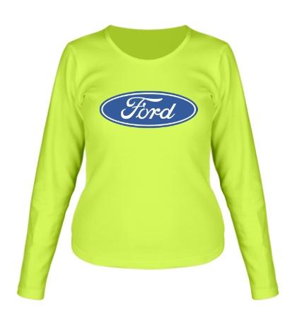 Женский лонгслив Ford Logo