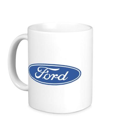 Керамическая кружка Ford Logo