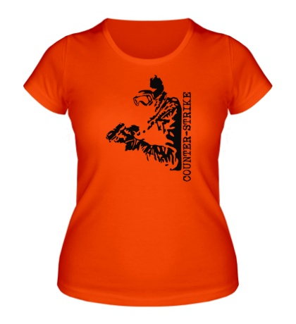 Женская футболка Counter-Strike SWAT