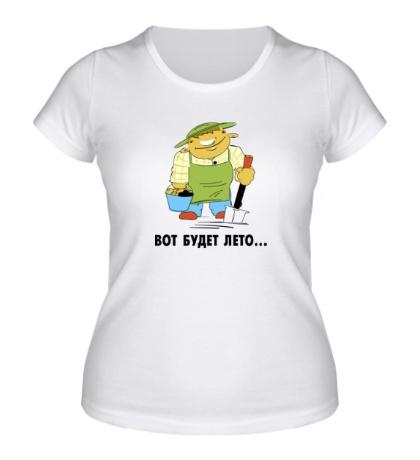 Женская футболка Вот будет лето