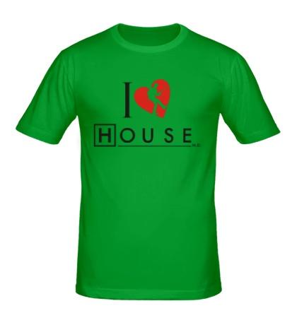 Мужская футболка I Love House