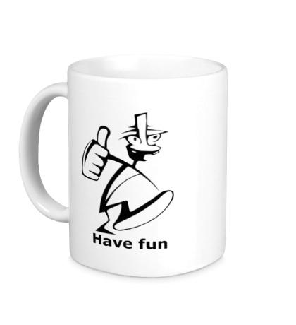 Керамическая кружка Have fun