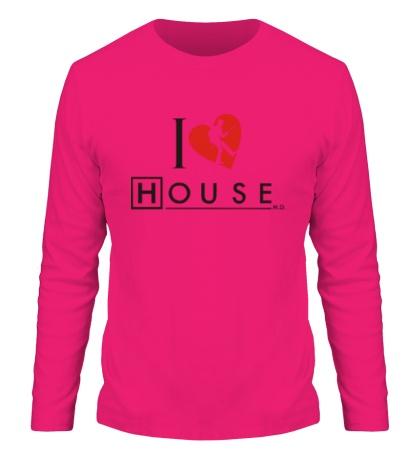 Мужской лонгслив I Love House