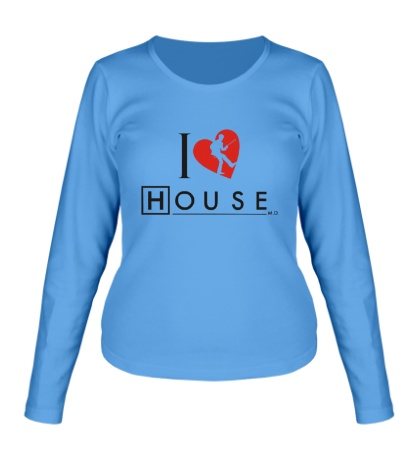 Женский лонгслив I Love House