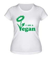 Женская футболка I am a vegan