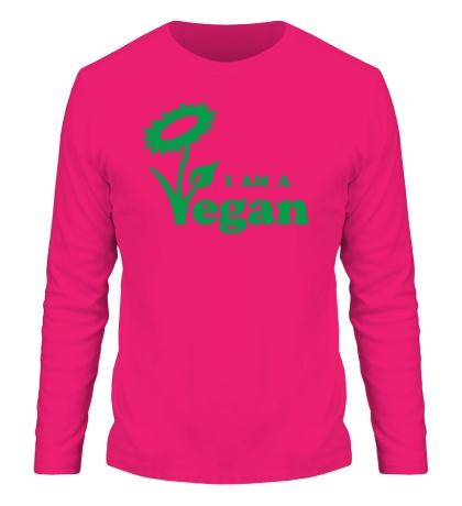 Мужской лонгслив I am a vegan