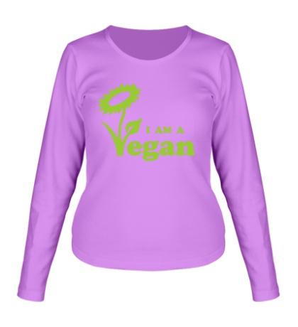 Женский лонгслив I am a vegan