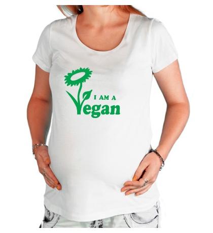 Футболка для беременной I am a vegan