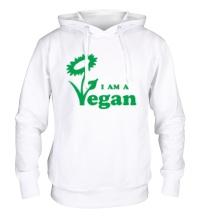 Толстовка с капюшоном I am a vegan