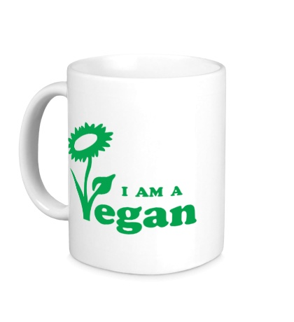Керамическая кружка I am a vegan