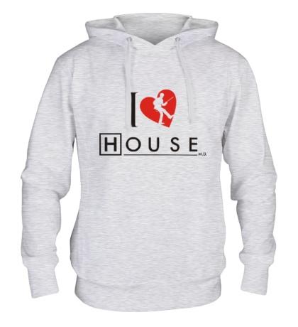 Толстовка с капюшоном I Love House