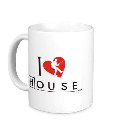 Керамическая кружка I Love House