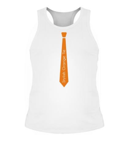 Мужская борцовка Стильный оранжевый галстук