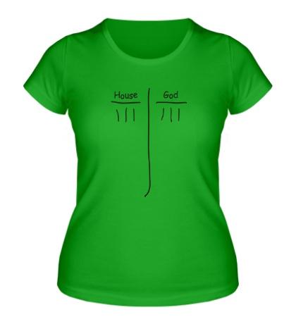 Женская футболка House vs God