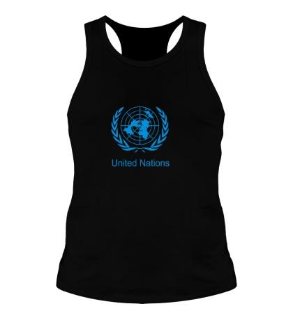 Мужская борцовка Эмблема ООН